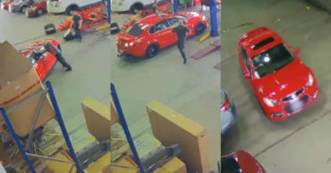 GTA In Real Life: Lunatic Walks In To Garage & Steals $50K Car
