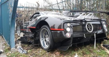 Caught on CCTV: Bodyguard Crashes Bosses £1 Million Supercar