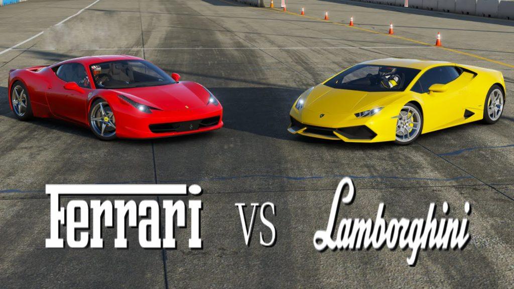 Lamborghini Aventador Gets Revenge On Tailgating Ferrari