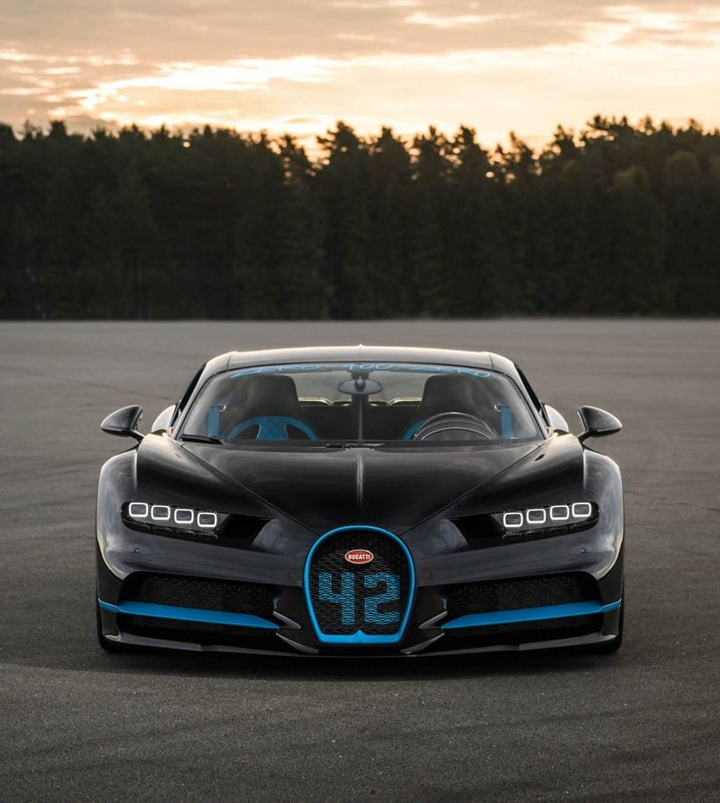 Bugatti Chiron breaks a 0-400-0 km/h world record